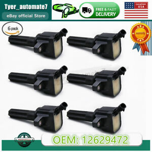 Set Of 6 Ignition Coils 12629472 For Buick Rainier Gmc Chevy Envoy 4 2l L6 Gas