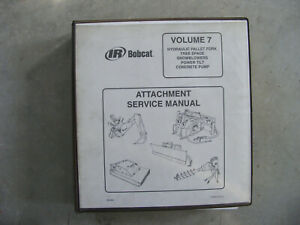 Bobcat Service Manual Shop Repair Book Concrete Pump Tree Spade Snowblow