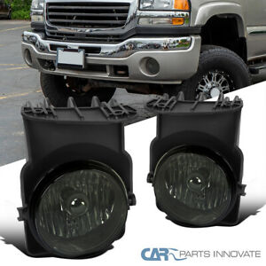 For 03 06 Gmc Sierra 1500 2500hd 3500 Smoke Fog Lights Bumper Lamps Left right