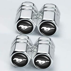 Valve Stem Caps For Mustang Accessories Mustang Logo In Chrome Universal