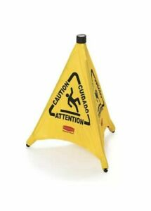 Rubbermaid 9s01 30 Pop up Folding Safety Cone Caution Wet Floor Symbol