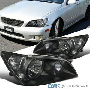 For 01 05 Lexus Is300 Black Replacement Headlights Head Lights Lamps Left Right