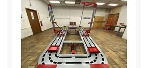 18 Feet Long Auto Body New Frame Machine 20 Ton 2 Towers Tools Bench Cart