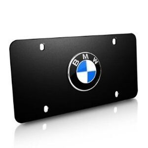 Bmw Marque Plates Black Stainless Steel