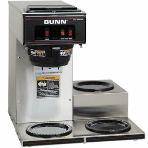Pourover Brewer Machine Coffee Maker With 3 Warmers Commercial Low Profile
