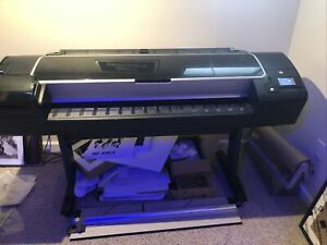 Hp Designjet Z5400 44 Wide Format Color Printer Working Condition