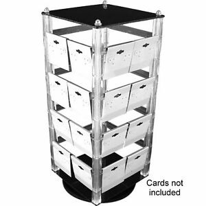 Revolving Rotating Acrylic Earring Display Holds 32 2 Cards