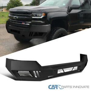 For 16 18 Chevy Silverado 1500 Pickup Truck Black Front Guard Bumper Replacement