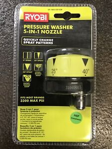 Ryobi 1003 524 628 Pressure Washer 5 in 1 Nozzle New