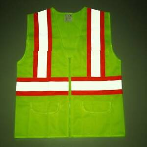 Visibility Reflective Safety Vest Stripes Traffic Warehouse Security M xl 3xl