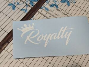 Royalty Windshield Banner Decal Sticker Banner Tuner Boost Funny Jdm Boost