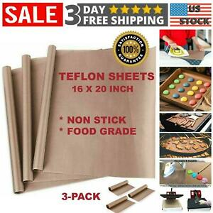 Teflon Transfer Sheets For Heat Press Ptfe Non Stick Reusable Craft Paper 3 Pcs