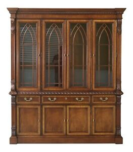 32587ec Hickory Chair Co Empire Style Carved Mahogany Breakfront