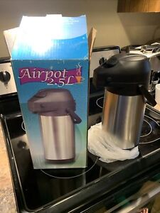 Airpot 2 5l Stainless Steel Coffee Dispenser Server Carafe 12 Hour Heat Hold