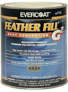 Evercoat 713 Feather Fill G2 Polyester Primer Surfacer gray Gallon Fib 713