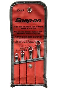 Snap On Tools Set C41f Double Box End Wrench Flank Drive Sae Mini Xid2022a