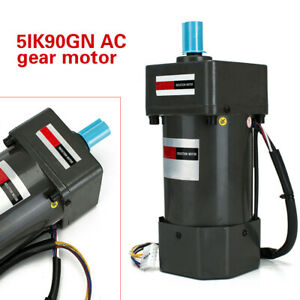 110v 90w Ac 60hz Gear Reducer Motor Ac Speed Controller Variable electric Motor