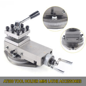 1 at300 Lathe Tool Post Assembly Holder Mini Lathe Accessories Metal Change Usa