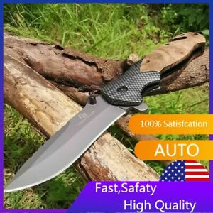 8quot; Spring Assisted Open Folding Pocket Knife Hunting Combat Tactical Knives $12.26