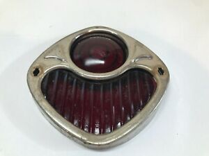 Vintage Original 1920 30 S Red Glass Stop Light With Bezel