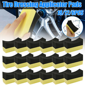 18pcs Auto Car Professional Tyre Tire Dressing Applicator Curved Foam Sponge Pad