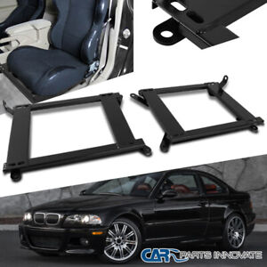 For Bmw 99 05 E46 3 Series 2dr Tensile Steel Racing Seat Base Mount Brackets