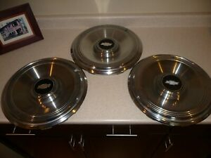 Lot Of 3 Vintage Chevrolet Chevy 15 Hubcaps