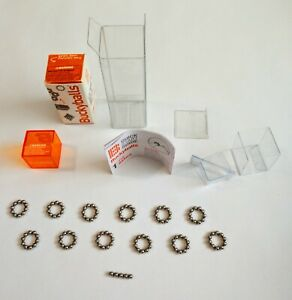 Rare Original Complete Box Maxfield Oberton Round Spheres Strong Magnet 3d Beads