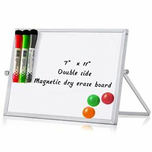 Magnetic Dry Erase White Board With Stand Adjustable To do List Notepad Whiteboa