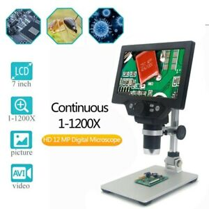 G1200 12mp 1 1200x Digital Microscope For Soldering Electronic 500x 1000x Micros