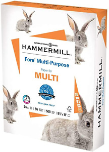 Hammermill Printer Paper fore Multipurpose 24 Lb 8 5 X 11 1 Ream 500 Sheets