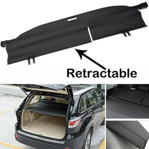 For 2014 19 Toyota Highlander Retractable Cargo Luggage Rear Trunk Cover Usa