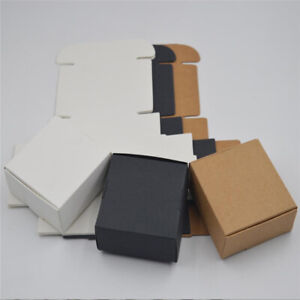 10pcs Gift Small Candy Cardboard Square Handmade Box Pack Wrapping Kraft Paper