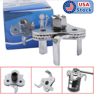 2 Way Oil Filter Wrench Auto Adjustable Universal 3 Jaw Remover Socket 1 2 3 8