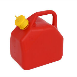 5l Gas Can Plastic Utility Jug For Car Storage Water Fuel Oil Petrol Diesel Us