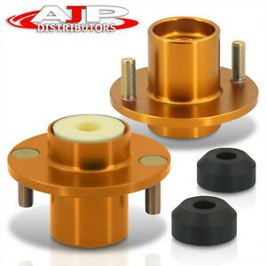 Gold Aluminum Coilover Shock Top Hat Mount Extended For 1988 2000 Civic Integra