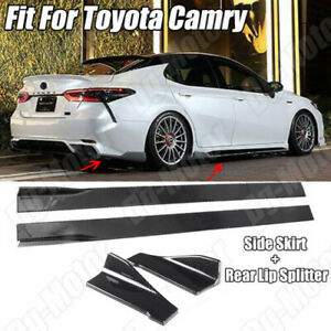 For Toyota Camry Le Xle Se Xse Side Skirt Rear Spllitter Diffuser Apron Canards