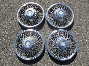 Factory Chevy Monza Corvair Citation 13 Inch Wire Spoke Hubcaps Wheel Covers