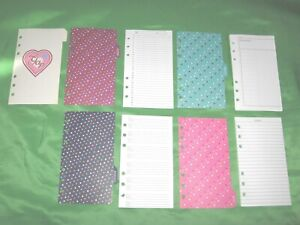Compact Heart Tab Page Stickers Lot Gap Binder Set Franklin Covey Planner