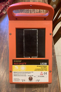 Solar Power Electric Fence Controller Lis3b Red Snap r Zareba Systems Read