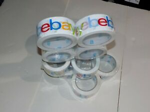 12 Rolls Ebay Branded Color Packaging Packing Tape 75 Yards 2 5 Mil Thick
