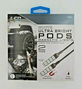Led Innovation White Ultra Bright Pods Magnetic Lights 2 Pods 23874 New In Box