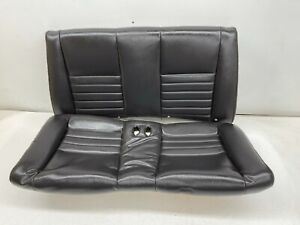 1999 2004 Oem Ford Mustang Convertible Rear Seat Back Leather Gt Charcoal s9548