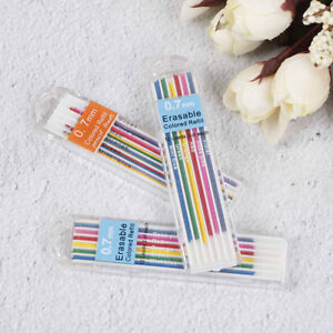 3 Boxes 0 7mm Colored Mechanical Pencil Refill Lead Erasable Student Stationo Uw