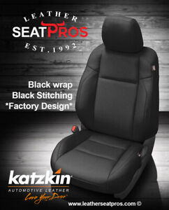 Leather Seat Covers Kit 2016 2021 Toyota Tacoma Double Cab Black Factory Match