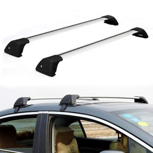2 X 48 Universal Car Top Roof Rack Cross Bars Luggage Carrier Aluminum W Lock