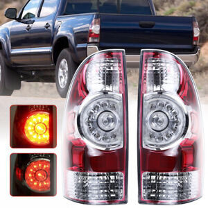 Pair Driver Passenger Replace Led Tail Brake Lights For Toyota Tacoma 2005 2015