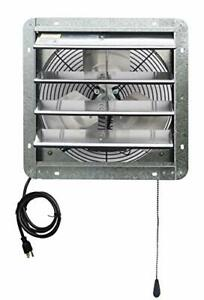 14 Wall Mounted Shutter Exhaust Thermostat Control 3 Speeds Vent Fan For Home