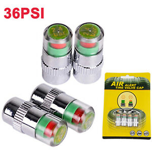4pcs Car Auto Tire Tyre Pressure Monitor Eye Alert Sensor Indicator Dust Caps