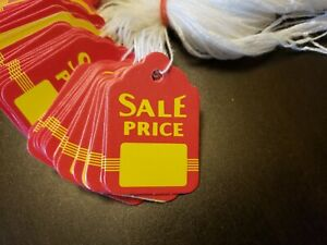 1000 Sale Price Red Yellow Tags With String Merchandise Garment Hang Coupon Sm